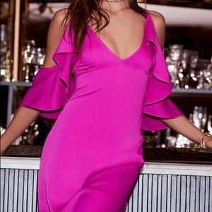 Adelyn Rae Oliana Magenta Midi Dress